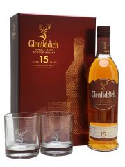 Glenfiddich 15 Year Old 2 Glasses Gift Pack
