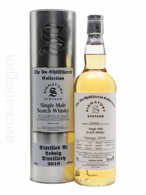 Ledaig 2010 7 Year Old Signatory