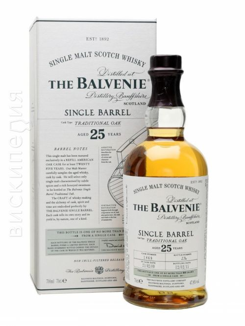 Balvenie 25 Year Old Single Barrel Traditional Oak