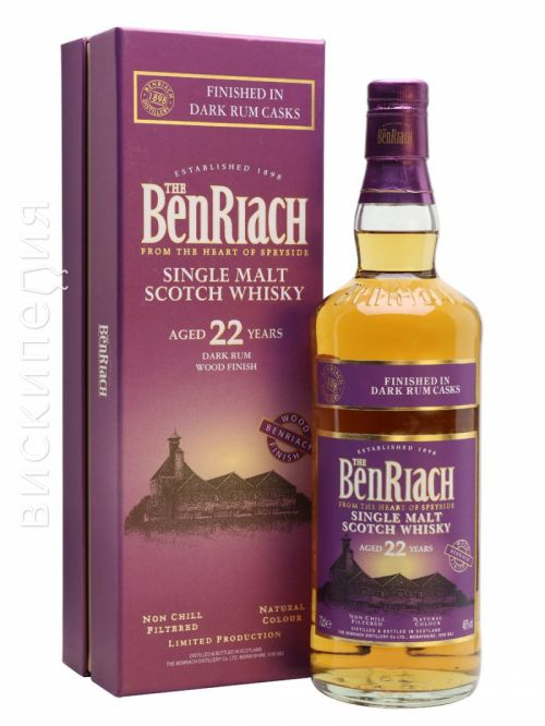 Benriach 22 Year Old Dark Rum