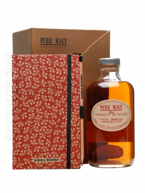 Nikka Pure Malt Red Notepad and Pencil Set