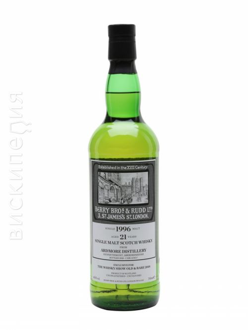 Ardmore 1996 21 Year Old BBR Whisky Show Old & Rare
