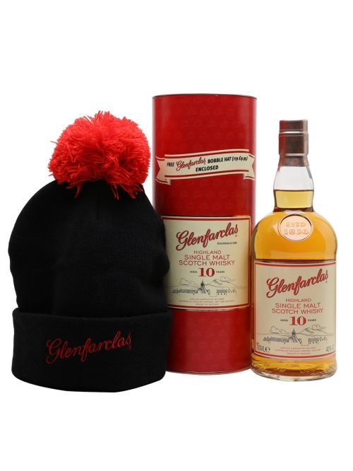 Glenfarclas 10 Year Old Gift Pack with Free Bobble Hat