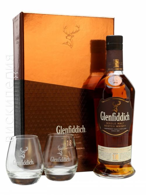 Glenfiddich 18 Year Old 2 Glasses Gift Pack