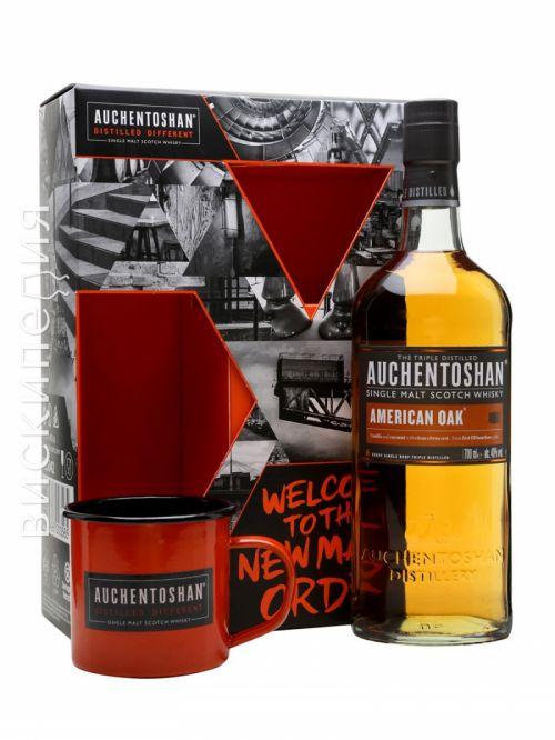 Auchentoshan American Oak and Tin Cup Gift Set